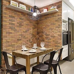 Rustic style dining room by Guaraúna Revestimentos Rustic