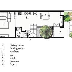 T HOUSE.:  Nhà gia đình by AE STUDIO DESIGN, Hiện đại