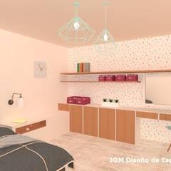 Dormitorio juvenil: Dormitorios de estilo  por JOM Diseño de Espacios