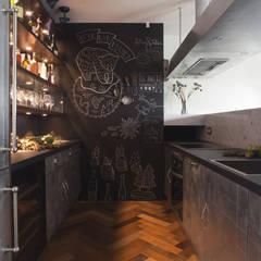 مطبخ تنفيذ Archventil - Architecture and Design Studio, صناعي