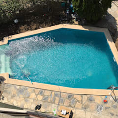 Sıdar Pool&Dome Yüzme Havuzları ve Şişme Kapamalar – Villa havuz Yapımı/Bitez:  tarz Bahçe havuzu