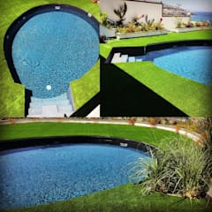 Sıdar Pool&Dome Yüzme Havuzları ve Şişme Kapamalar – K.A. - Yalıkavak:  tarz Bahçe havuzu