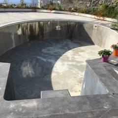 Sıdar Pool&Dome Yüzme Havuzları ve Şişme Kapamalar – K. A. - Yalıkavak:  tarz Bahçe havuzu