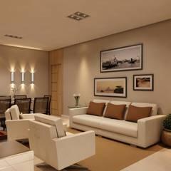 Sala Íntima: Salas de estar clássicas por Marcelo Brasil Arquitetura