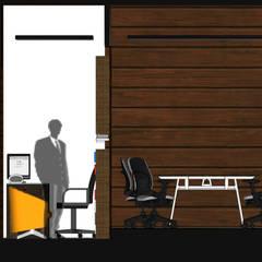 LOOK IN & LOOK OUT: Ruang Kerja oleh MY Studio,
