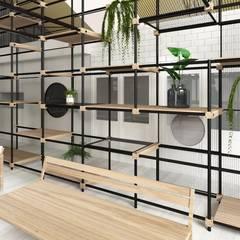 Showroom Las Marinas: Galerías y espacios comerciales de estilo  por TC Estudio