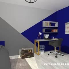 Dormitorio Matías: Dormitorios de estilo moderno por JOM Diseño de Espacios