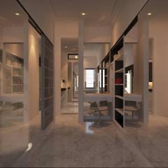 Winston's Master Bedroom: Ruang Ganti oleh Chandra Cen Design, Modern