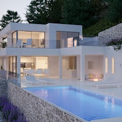 Casa Aline: Villas de estilo  de SINGULAR STUDIO