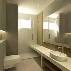 VIVIENDA R LA GARRIGA: Baños de estilo  de inzinkdesign