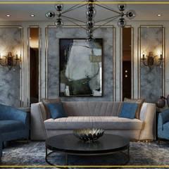 فيلا تاج سلطان:  غرفة المعيشة تنفيذ Art Attack, حداثي