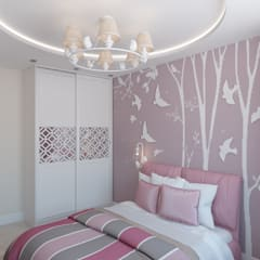 Dormitorios infantiles de estilo  por Мастерская дизайна Онищенко Марии