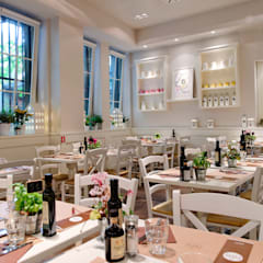 Biancolatte -Cucina, Caffè, Gelato, Pasticceria, Shop, Fiori, lifestyle - Milano: Gastronomia in stile  di Andrea Rossini Architetto