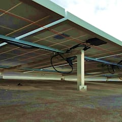 Sistema solar de interconexión a CFE: Techos de estilo  por Vumen mx