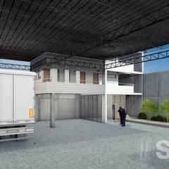 Depósitos Sulca - Vista Interior: Espacios comerciales de estilo  por Soluciones Técnicas y de Arquitectura