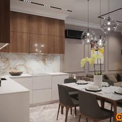 Кухня-столовая в светлых цветах: Кухонные блоки в . Автор – Art-i-Chok