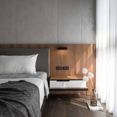 غرفة نوم تنفيذ 極簡室內設計 Simple Design Studio , حداثي