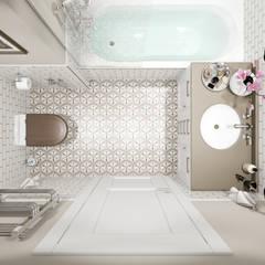 country Bathroom by Студия архитектуры и дизайна Дарьи Ельниковой