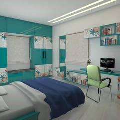 Children Bed room:  Bedroom by URBAN HOSPEX INTERIORS