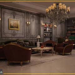 شقة مساكن شيراتون:  غرفة المعيشة تنفيذ Art Attack