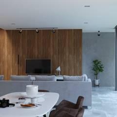 Rumah Tinggal Kontemporer: Ruang Makan oleh Kalytera Studio,