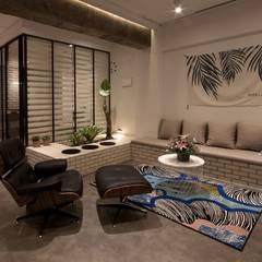 전주인테리어 상가주택 인테리어 30평 인테리어 - 위크앤드 -: 디자인투플라이의  거실,북유럽