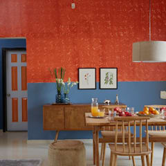 Colour inspired spaces: rustic Dining room by Papersky Studio