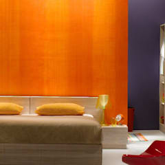 Colour inspired spaces:  Bedroom by Papersky Studio