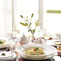 Table Settings:  Dining room by Papersky Studio