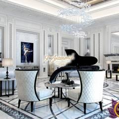 The Best interior design Dubai  from Katrina Antonovich:  Living room by Luxury Antonovich Design