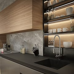 "ЖК ""Савеловский Сити"": Кухни в . Автор – Y.F.architects"