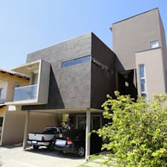 Fachada - Casa Cubo: Casas familiares  por Costa Lima Arquitetura Design e Construções Ltda