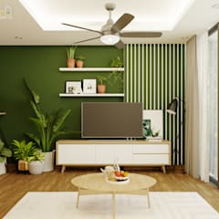tropical Dining room by Green Interior