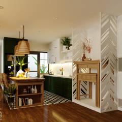 """SEASON AVENUE, ĐẠI LỘ 4 MÙA - """"MÙA HẠ MIỀN NHIỆT ĐỚI"""":  Tủ bếp by Green Interior"""