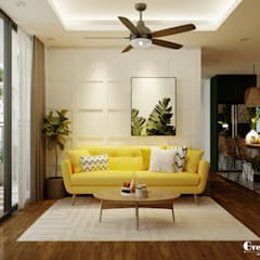 Living room by Green Interior, Tropical Engineered Wood Transparent