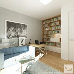 Projekt domu: styl , w kategorii Domowe biuro i gabinet zaprojektowany przez 4ma projekt