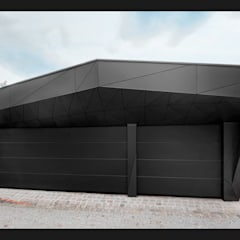 Garage/shed by plusEnergieArchitektur, Eclectic