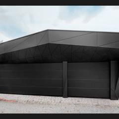 plusEnergieArchitektur: eklektik tarz tarz Garaj / Hangar