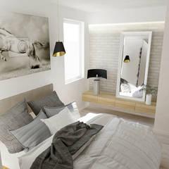 MIESZKANIE DLA RODZINY – 90m2: styl , w kategorii Sypialnia zaprojektowany przez VIVINO