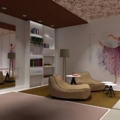 Sala de Ballet da menina: Quartos das meninas  por IZI HOME Interiores