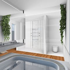 Spa de estilo topical por Gislene Soeiro Arquitetura e Interiores