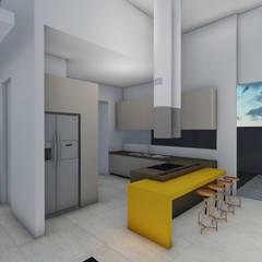 Cocinas de estilo  por Gislene Soeiro Arquitetura e Interiores,