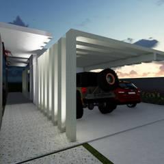 Garage/shed by Gislene Soeiro Arquitetura e Interiores