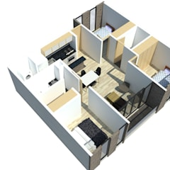 : Casas multifamiliares de estilo  por Bustos + Quintero arquitectos