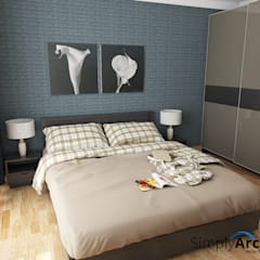 A-Apartment at Botanica Apartment, Simprug - South Jakarta:  Kamar Tidur by Simply Arch.