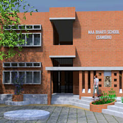 Maa Bharti Jr. School:  Country house by Ravi Prakash Architect