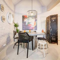 Querido Mudei a Casa - Ep 2607 Salas de jantar industriais por Santiago | Interior Design Studio Industrial