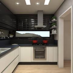 Kitchen units by Caroline Berto Arquitetura
