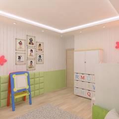 Детская: Спальни для девочек в . Автор – Гузалия Шамсутдинова | KUB STUDIO