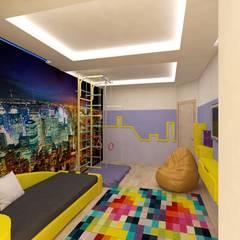 4-х комнатная квартира на Почтовом проезде: Спальни для мальчиков в . Автор – Гузалия Шамсутдинова | KUB STUDIO, Модерн